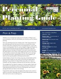Perennial Planting Guide