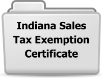 Indiana Sales Tax Exemption Certificate
